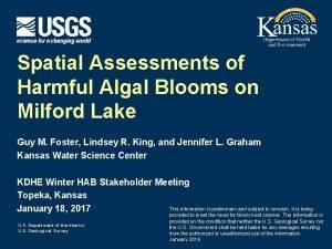 Spatial Assessments of Harmful Algal Blooms on Milford