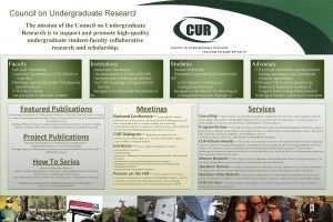 Council on Undergraduate Research The mission of the