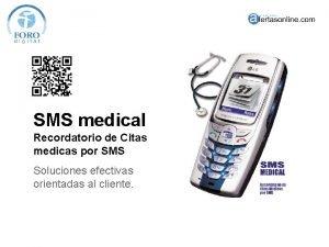 SMS medical Recordatorio de Citas medicas por SMS
