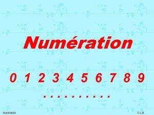Numration 0 1 2 3 4 5 6