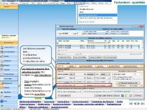 Facturation quantits Les factures peuvent tre 1 prpares