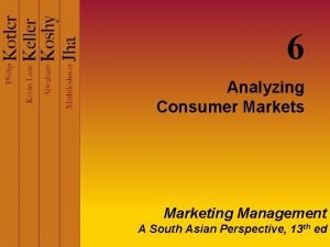 6 Analyzing Consumer Markets Marketing Management A South