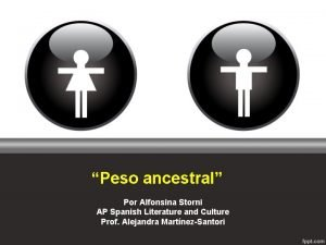 Peso ancestral Por Alfonsina Storni AP Spanish Literature