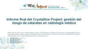 Informe final del Crystalline Project gestin del riesgo