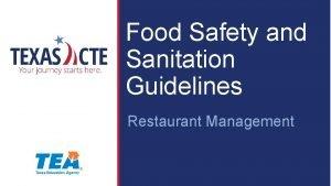 Food Safety and Sanitation Guidelines Restaurant Management Copyright