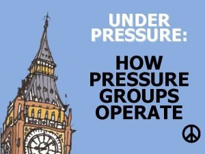 UNDER PRESSURE HOW PRESSURE GROUPS OPERATE Green energy