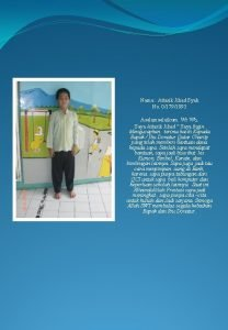 Nama Attarik Jihad Syah No 01791093 Asalamualaikum Wr