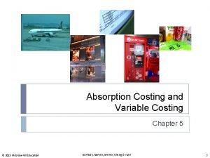 Absorption Costing and Variable Costing Chapter 5 2015