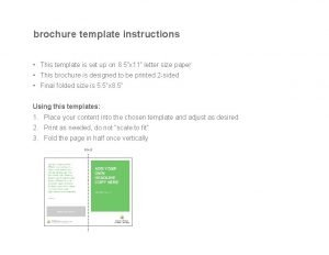 brochure template instructions This template is set up