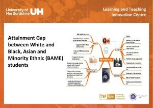 Learning and Teaching Innovation Centre Attainment Gap between