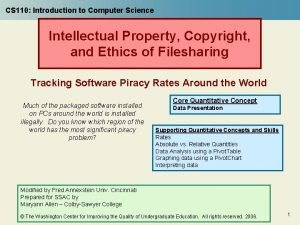 CS 110 Introduction to Computer Science Intellectual Property