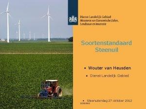 Soortenstandaard Steenuil Wouter van Heusden Dienst Landelijk Gebied