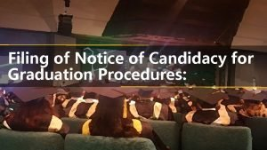 Filing of Notice of Candidacy for Graduation Procedures