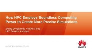 How HPC Employs Boundless Computing Power to Create
