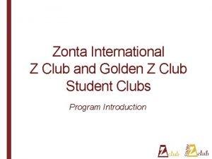 Zonta International Z Club and Golden Z Club