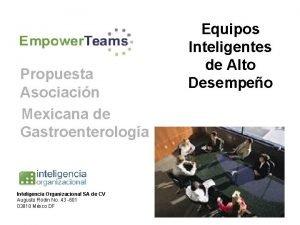 Propuesta Asociacin Mexicana de Gastroenterologa Inteligencia Organizacional SA