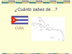 Cunto sabes de CUBA Dnde est Cuba Dnde