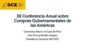 XII Conferencia Anual sobre Compras Gubernamentales de las