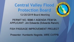 Central Valley Flood Protection Board 12202019 Board Meeting
