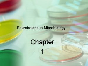 Foundations in Microbiology Chapter 1 Microbiology The study