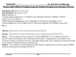 January 2012 doc IEEE 802 15 12 0046