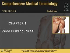 CHAPTER 1 Word Building Rules Word Building Rules