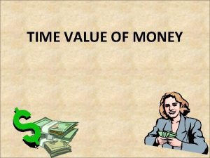 TIME VALUE OF MONEY Time Preference Time preference