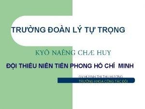 TRNG ON L T TRNG KY NANG CH
