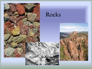 Rocks Rocks are divided into 3 types IGNEOUS