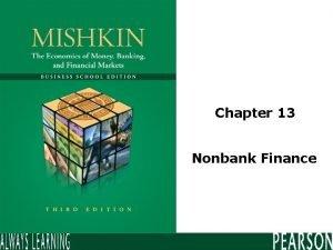 Chapter 13 Nonbank Finance Insurance Life insurance Permanent