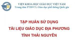 VIN KHOA HC GIO DC VIT NAM Trung