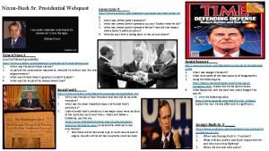 NixonBush Sr Presidential Webquest Jimmy Carter http www