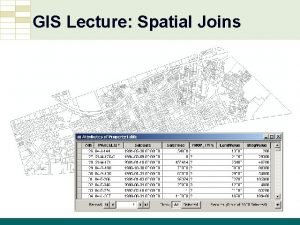 GIS Lecture Spatial Joins GIS Tutorial Third Edition