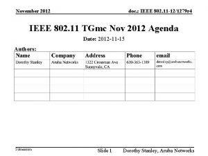 November 2012 doc IEEE 802 11 121279 r