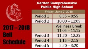 Carlton Comprehensive Public High School Friday June 7