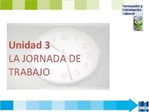 Unidad 3 LA JORNADA DE TRABAJO CONTENIDOS 1