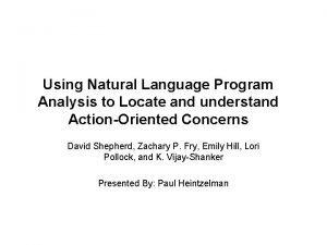 Using Natural Language Program Analysis to Locate and