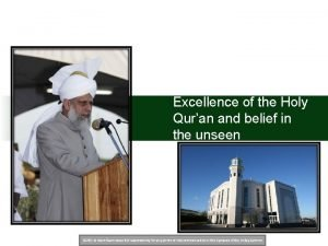 Excellence of the Holy Quran and belief in