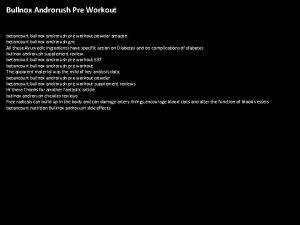 Bullnox Androrush Pre Workout betancourt bullnox androrush pre