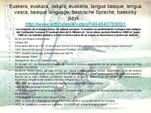 Euskera euskara skara euskeria langue basque lengua vasca