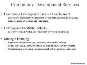 Community Development Services Community Development Purpose Development Help