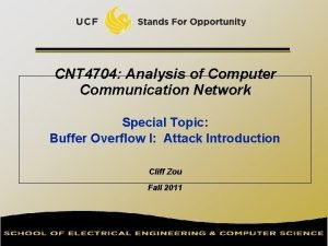 CNT 4704 Analysis of Computer Communication Network Special