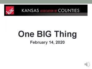 One BIG Thing February 14 2020 One BIG