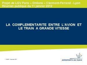 Projet de LGV Paris Orlans ClermontFerrand Lyon Runion