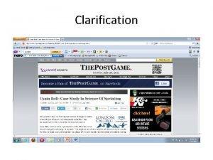 Clarification Clarification Factors to Win the Race Amount
