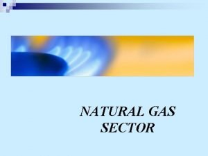 NATURAL GAS SECTOR INTRODUCTION n A Brief Summary