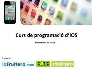 Curs de programaci di OS Novembre de 2011