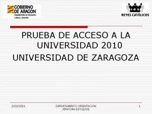 PRUEBA DE ACCESO A LA UNIVERSIDAD 2010 UNIVERSIDAD