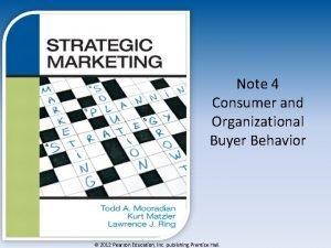 Note 4 Consumer and Organizational Buyer Behavior 2012