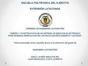 ESCUELA POLITCNICA DEL EJRCITO EXTENSIN LATACUNGA CARRERA DE